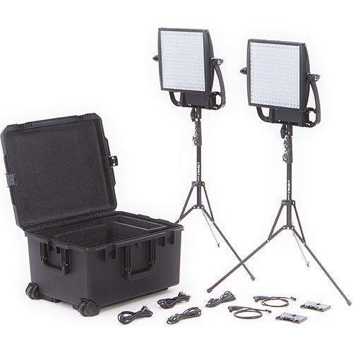 Litepanels LED Light Kit Litepanels Astra 3X Traveler Bi-Color Duo 2-Light Kit with Gold Mount Battery Brackets