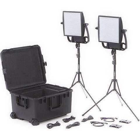Litepanels Astra 3X Traveler Bi-Color Duo 2-Light Kit with Gold Mount Battery Brackets