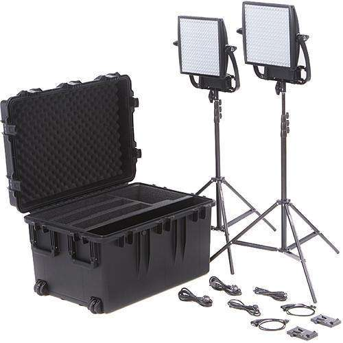 Litepanels LED Light Kit Litepanels Astra 6X Traveler Bi-Color Duo 2-Light Kit with V-Mount Battery Plates
