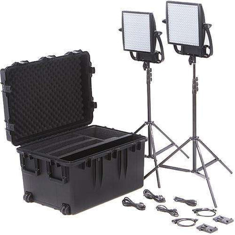Litepanels Astra 6X Traveler Bi-Color Duo 2-Light Kit with V-Mount Battery Plates