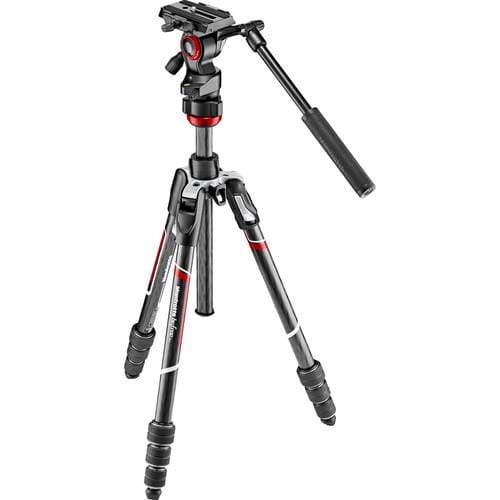 Manfrotto Tripods & Monopods Manfrotto Befree Live Carbon Fiber Video Tripod Kit with Twist Leg Locks