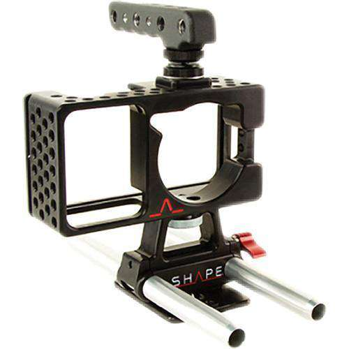 SHAPE Camcorder Supports & Rigs SHAPE Cage for Blackmagic Pocket Camera with Handle and Baseplate