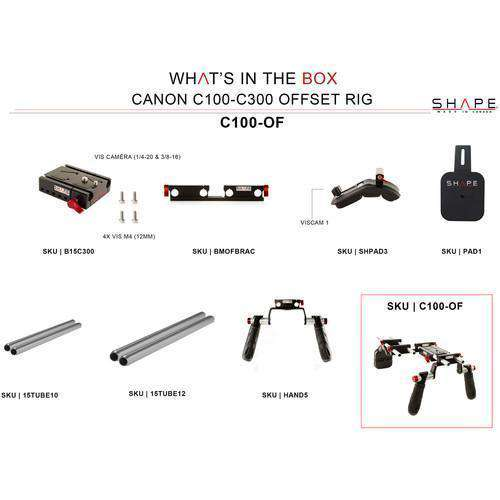 SHAPE Camcorder Supports & Rigs SHAPE Canon C100/C300/C500 Offset Rig