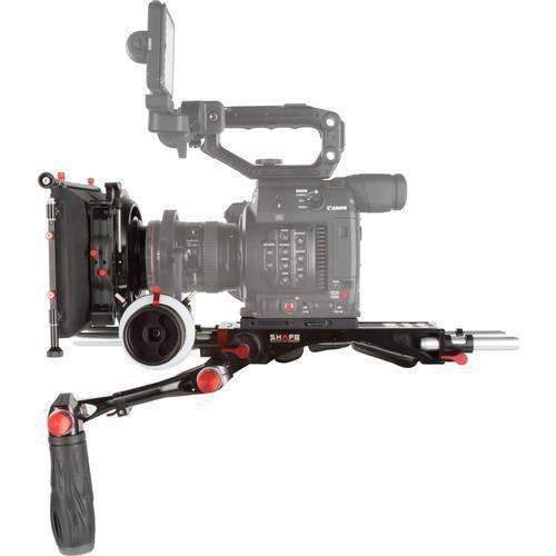 "SHAPE Camcorder Supports & Rigs SHAPE Canon C200 Camera Bundle Rig with Follow Focus Pro & 4 x 5.6"" Matte Box"