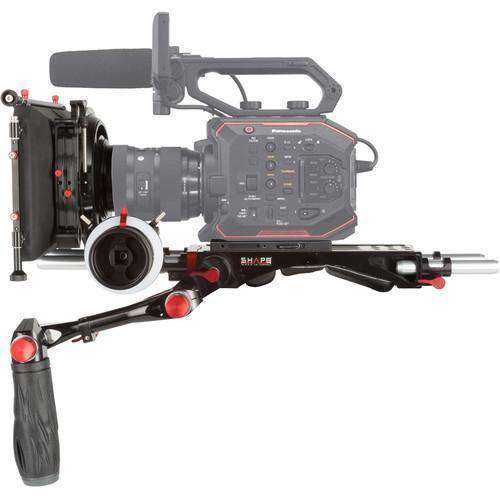 "SHAPE Camcorder Supports & Rigs SHAPE Panasonic AU-EVA1 Camera Bundle Rig with Follow Focus Pro and 4 x 5.6"" Matte Box"