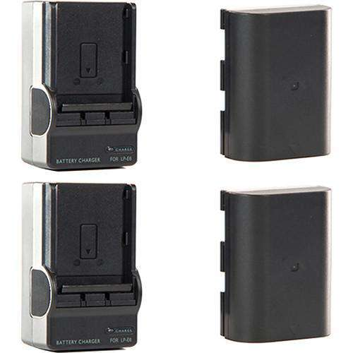 SHAPE Camera Batteries SHAPE Shill LP-E6 Li-Ion Battery Pack and Charger Kit (2-Pack)
