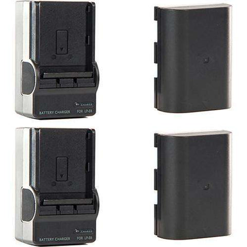SHAPE Shill LP-E6 Li-Ion Battery Pack and Charger Kit (2-Pack)