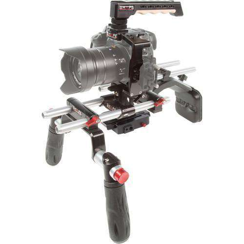 SHAPE DSLR Video Supports & Rigs SHAPE Panasonic GH5 Cage with Offset Shoulder Mount System