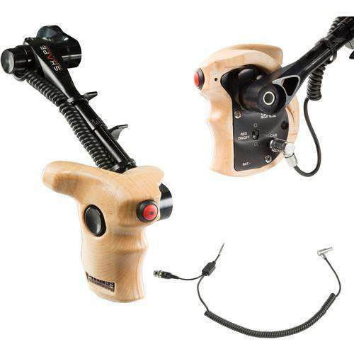 SHAPE Handles & Grips SHAPE Stop & Start Handle Grip with Telescopic Wood ARRI Rosette for RED Camera