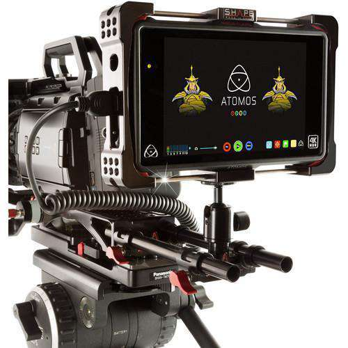 SHAPE Rod Brackets & Clamps SHAPE Lightweight Ballhead with 15mm Rod Block for Atomos Flame Cage