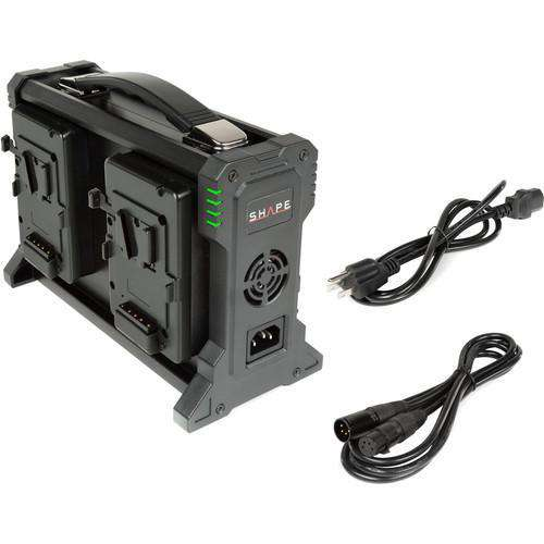 SHAPE SHAPE SHAPE Intelligent 4-Channel V-Mount Lithium-Ion Battery Charger
