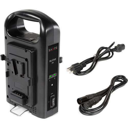 SHAPE SHAPE SHAPE Intelligent Dual V-Mount Lithium-Ion Battery Charger