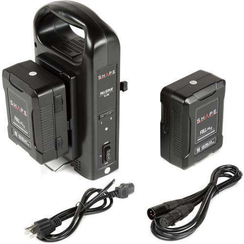 SHAPE SHAPE Two 14.8V 98Wh Lithium-Ion V-Mount Batteries w/ Intelligent Dual V-Mount Battery Charger