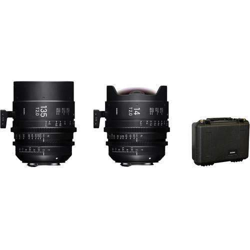 Sigma Digital Cine Lenses Sigma 14/135mm FF High Speed Prime Lens Kit with Case (EF Mount)