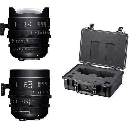 Sigma Digital Cine Lenses Sigma 14/135mm Fully Luminous FF High Speed Prime Lens Kit with Case (E Mount)