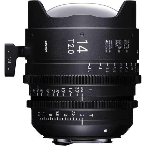 Sigma Digital Cine Lenses Sigma 14mm T2 Fully Luminous FF High Speed Prime Lens (ARRI PL Mount)