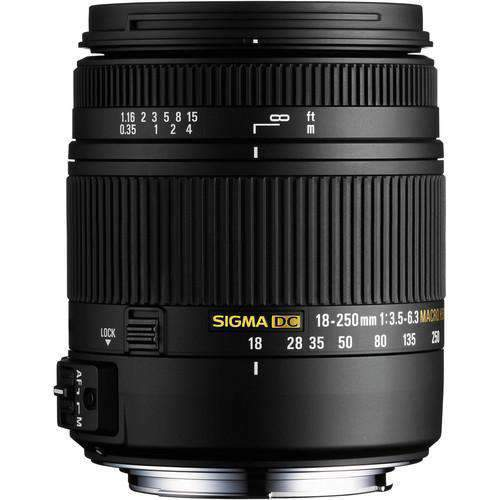 Sigma SLR Lenses Sigma 18-250mm F3.5-6.3 DC Macro HSM for Sony Alpha Cameras