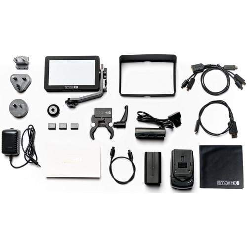 "SmallHD Monitors SmallHD FOCUS 5"" On-Camera Monitor Gimbal Kit with International Charger Power Supply"