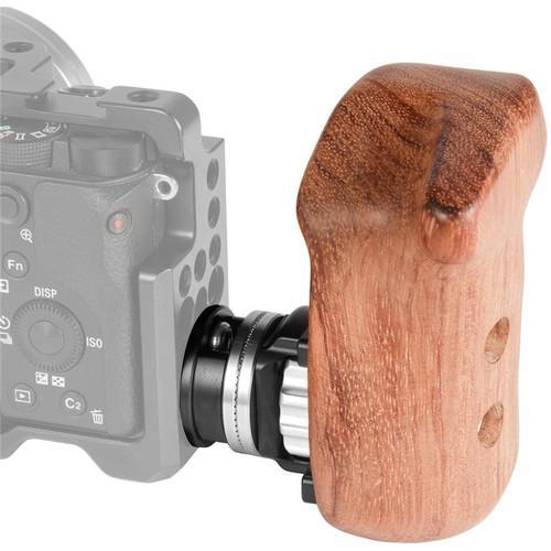 SmallRig Supports & Rig Components SmallRig Wooden Handgrip with Bolt-On Mount (Right Hand)