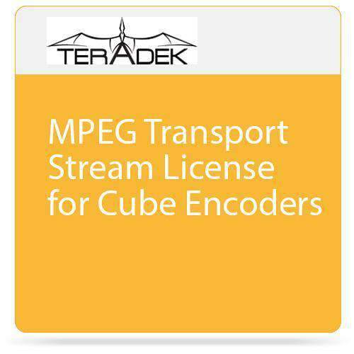 Teradek Wireless Video Transmission Accessories Teradek MPEG Transport Stream License for Cube Encoders