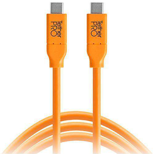 Tether Tools USB Cables Tether Tools TetherPro USB Type-C Male to USB Type-C Male Cable (10', Orange)