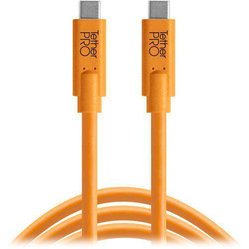 Tether Tools USB Cables Tether Tools TetherPro USB Type-C Male to USB Type-C Male Cable (3', Orange)