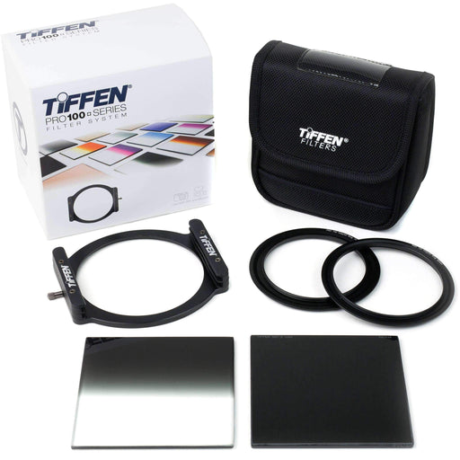 "Tiffen Accessory Tiffen Pro100 ND Starter Filter Kit with 4 x 4"" Solid Neutral Density 1.2 and Soft-Edge Graduated Neutral Density 1.2 Filters"