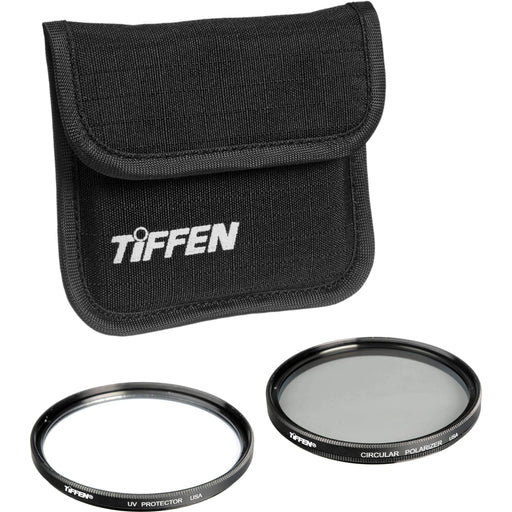 Tiffen Tiffen Filter Kits Tiffen 77mm Photo Twin Pack (UV Protection and Circular Polarizing Filter)