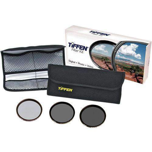 Tiffen Tiffen Filter Kits Tiffen 82mm DV Select Filter Kit 3 - Neutral Density 0.6, Circular Polarizing and Black ProMist 1/4 Filters
