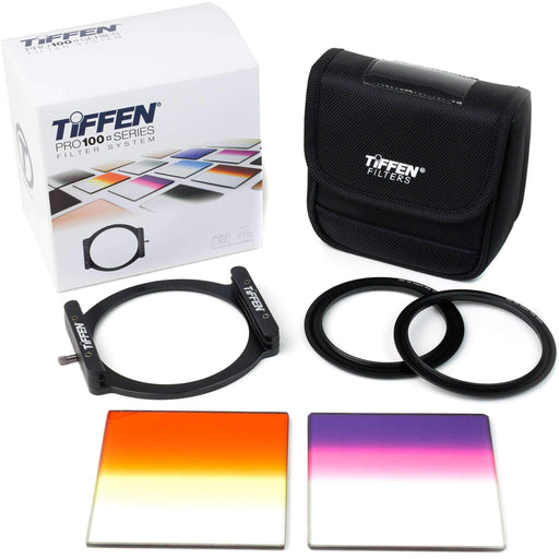 "Tiffen Tiffen Filter Kits Tiffen Pro100 Skyline Filter Kit with 4 x 4"" Graduated Sunset and Graduated Twilight Filters"