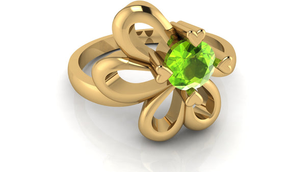 Yellow Gold, Peridot