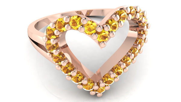 Rose Gold, Yellow Sapphire