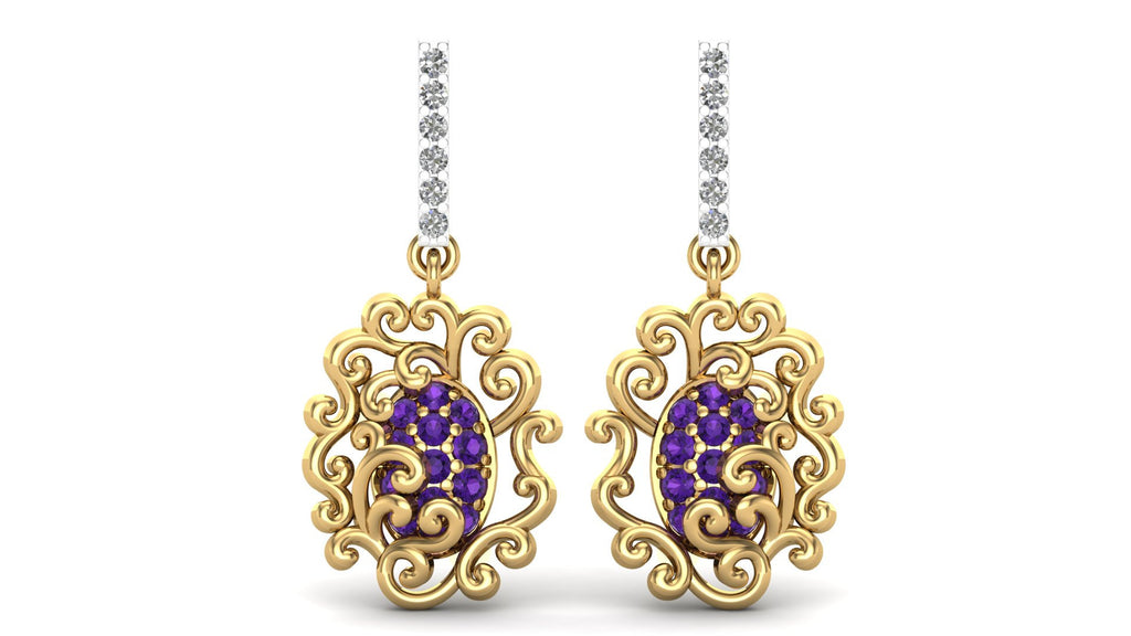 Yellow Gold, Amethyst