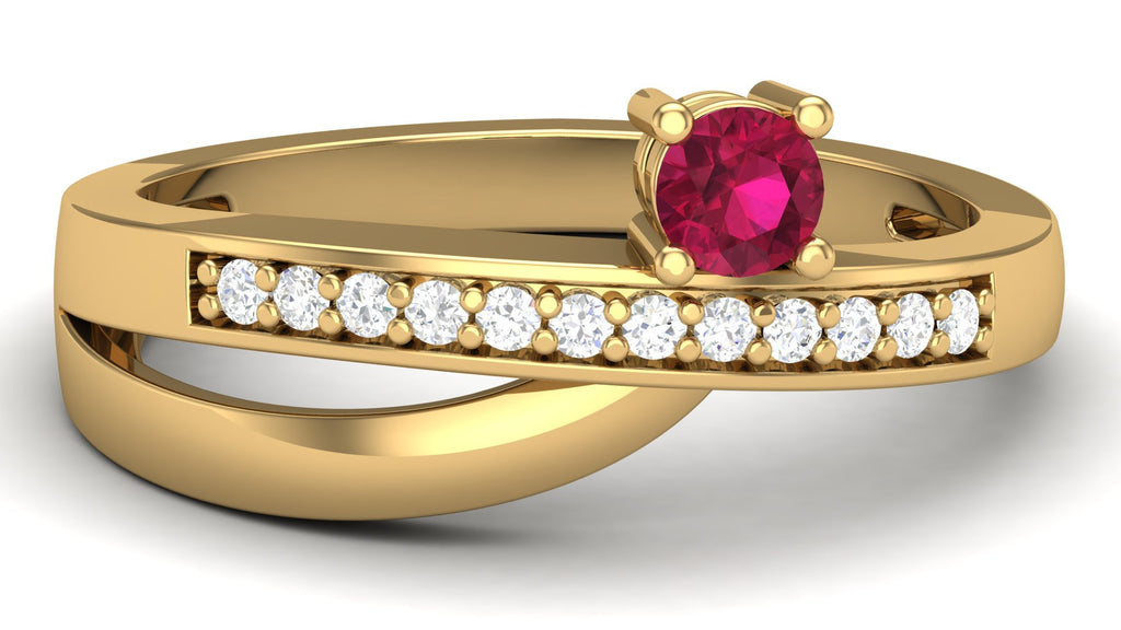 Yellow Gold, Ruby