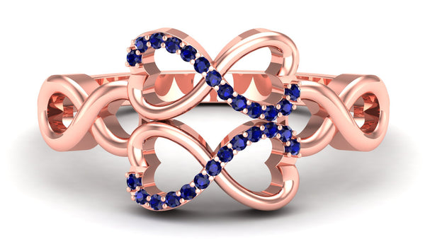 Rose Gold, Blue Sapphire