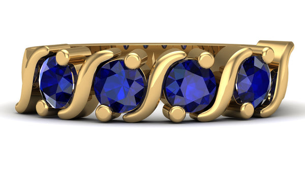 Yellow Gold, Blue Sapphire