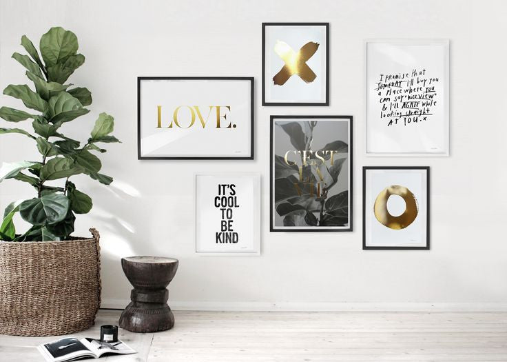 GOLD WALL ART