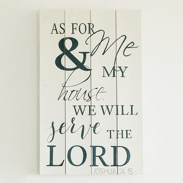 buy As For Me & My House We Will Serve The Lord | Christian Word Art | Bible Verse for $60.00