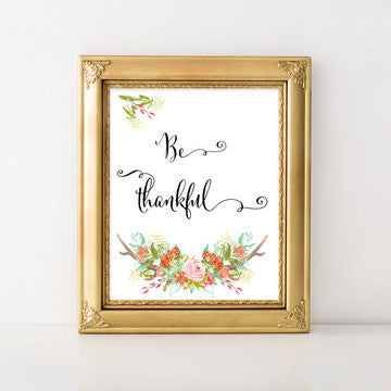 buy Be Thankful | Bible Verse | Christian Wall Art for $11.95