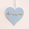 wooden heart personalized girls name