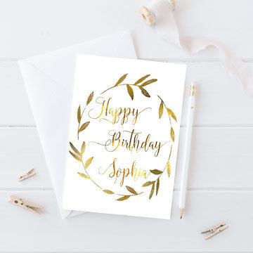 Birthday Card | Personalized Birthday Card - Word Signs Decor
