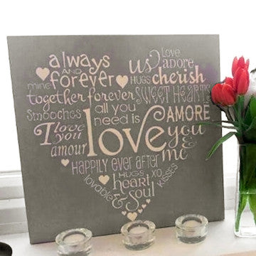 buy Hand-Painted Love Wooden Sign | Inspirational Love Art Sign | Typography Love Art Sign for $49.95