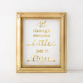 Nursery art print, Gold foil, wall art
