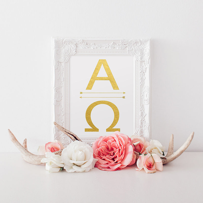 buy Alpha Omega | Greek Letters | Alpha The Beginning | Omega The End for $14.95
