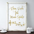 Music quote gift, gift for music lovers