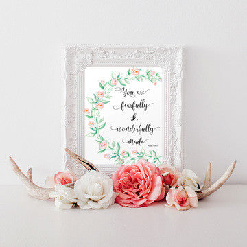 buy You Are Fearfully & Wonderfully Made Wall Art Print for $14.95