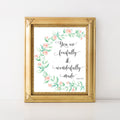 Christian Verse Wall Art Print