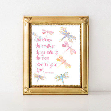 buy Sometimes The Smallest Things | Winnie The Pooh | Nursery Print for $14.95
