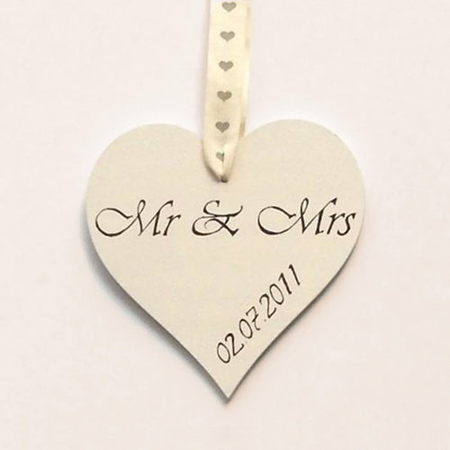 wedding favor hand-painted mr and mrs wedding date