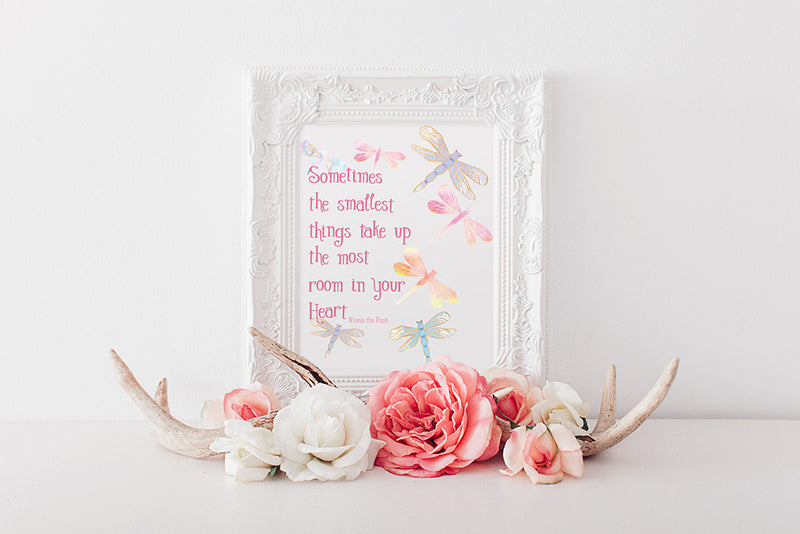 buy Foil Print Love Quote - Sometimes The Smallest Things for $14.95